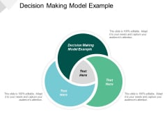 Decision Making Model Example Ppt PowerPoint Presentation Model Graphics Template Cpb