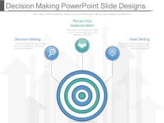 Decision Making Powerpoint Slide Designs
