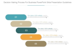 Decision Making Process For Business Powerpoint Slide Presentation Guidelines