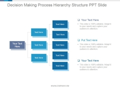 Decision Making Process Hierarchy Structure Ppt PowerPoint Presentation Pictures