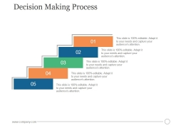 Decision Making Process Ppt PowerPoint Presentation Information