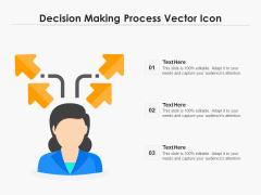 Decision Making Process Vector Icon Ppt PowerPoint Presentation Outline Design Ideas PDF