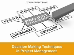 Decision Making Techniques In Project Management Ppt PowerPoint Presentation Complete Deck With Slides