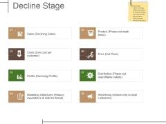 Decline Stage Ppt PowerPoint Presentation Show Demonstration