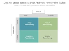 Decline Stage Target Market Analysis Powerpoint Guide