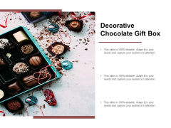 Decorative Chocolate Gift Box Ppt PowerPoint Presentation Icon Guidelines