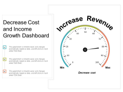 Decrease Cost And Income Growth Dashboard Ppt PowerPoint Presentation Inspiration Guide