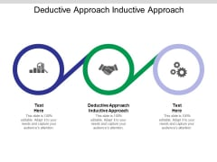 Deductive Approach Inductive Approach Ppt PowerPoint Presentation Clipart Cpb