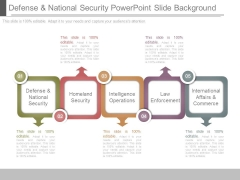 Defense And National Security Powerpoint Slide Background