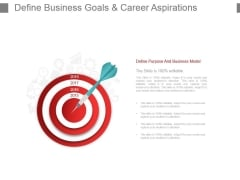 Define Business Goals And Career Aspirations Powerpoint Slide Download