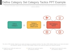 Define Category Set Category Tactics Ppt Example