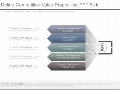 Define Competitive Value Proposition Ppt Slide