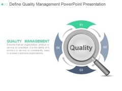 Define Quality Management Ppt PowerPoint Presentation Graphics