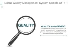 Define Quality Management System Ppt PowerPoint Presentation Picture