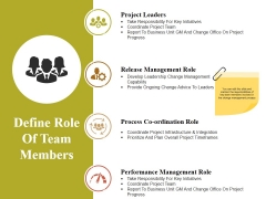 Define Role Of Team Members Ppt PowerPoint Presentation Layouts Guide