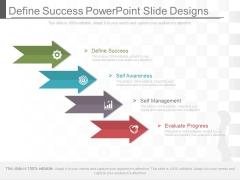 Define Success Powerpoint Slide Designs