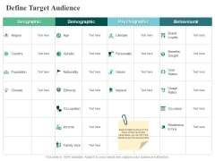Define Target Audience Geographic Ppt PowerPoint Presentation Model Objects