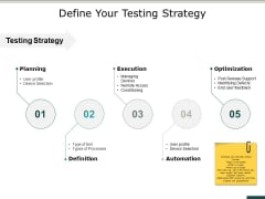 Define Your Testing Strategy Ppt PowerPoint Presentation Ideas Show