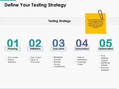 Define Your Testing Strategy Ppt Powerpoint Presentation Model Portrait