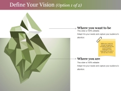 Define Your Vision Template 1 Ppt PowerPoint Presentation Professional Inspiration