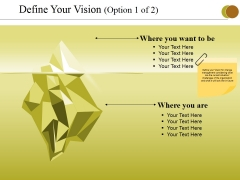 Define Your Vision Template 1 Ppt PowerPoint Presentation Summary Picture