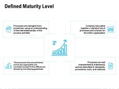 Defined Maturity Level Ppt PowerPoint Presentation Slides Deck
