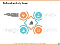 Defined Maturity Level Ppt PowerPoint Presentation Visual Aids Styles