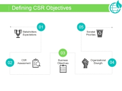 Defining Csr Objectives Ppt PowerPoint Presentation Good