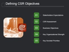 Defining Csr Objectives Ppt PowerPoint Presentation Slides