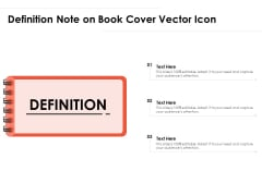 Definition Note On Book Cover Vector Icon Ppt PowerPoint Presentation File Sample PDF