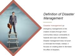 Definition Of Disaster Management Ppt PowerPoint Presentation Influencers