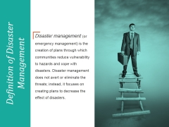 Definition Of Disaster Management Ppt PowerPoint Presentation Rules