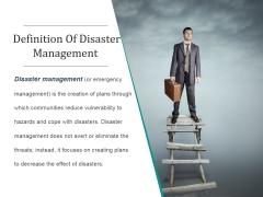 Definition Of Disaster Management Ppt PowerPoint Presentation Slide