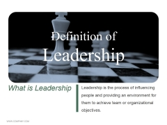 Definition Of Leadership Ppt PowerPoint Presentation Styles