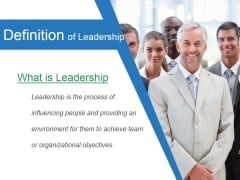 Definition Of Leadership Ppt PowerPoint Presentation Topics