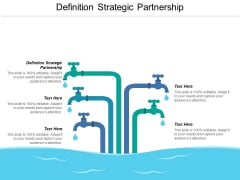 Definition Strategic Partnership Ppt PowerPoint Presentation Infographics Summary Cpb