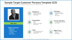 Definitive Guide Creating Content Strategy Sample Target Customer Persona Template Male Demonstration PDF