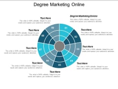 Degree Marketing Online Ppt Powerpoint Presentation Visual Aids Inspiration Cpb