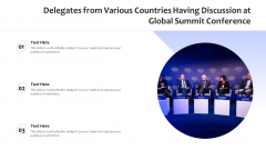 Delegates From Various Countries Having Discussion At Global Summit Conference Ppt Professional Guide PDF