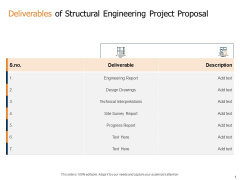 Deliverables Of Structural Engineering Project Proposal Ppt Model Gallery PDF