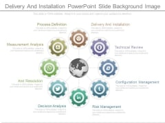 Delivery And Installation Powerpoint Slide Background Image