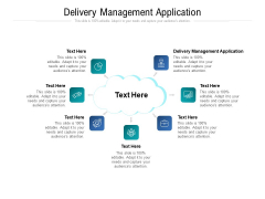Delivery Management Application Ppt PowerPoint Presentation Gallery Maker Cpb Pdf