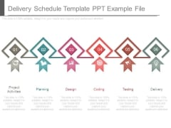 Delivery Schedule Template Ppt Example File