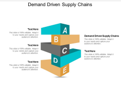 Demand Driven Supply Chains Ppt PowerPoint Presentation Background  Cpb