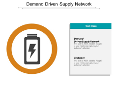 Demand Driven Supply Network Ppt PowerPoint Presentation Inspiration Sample