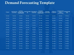 Demand Forecasting Template Ppt Powerpoint Presentation Gallery Graphics