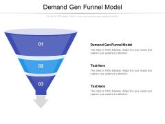 Demand Gen Funnel Model Ppt PowerPoint Presentation Summary Influencers Cpb Pdf
