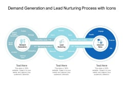 Demand Generation And Lead Nurturing Process With Icons Ppt PowerPoint Presentation File Graphic Tips PDF