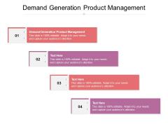 Demand Generation Product Management Ppt PowerPoint Presentation Icon Slide Portrait Cpb