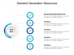 Demand Generation Resources Ppt PowerPoint Presentation Layouts Examples Cpb